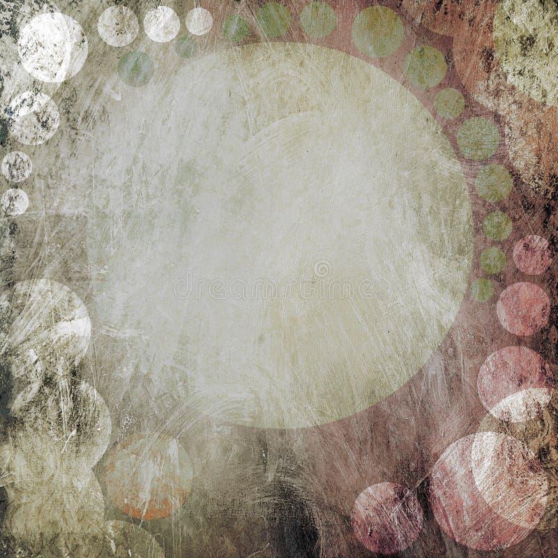 Omcirkelt grunge frame stock illustratie