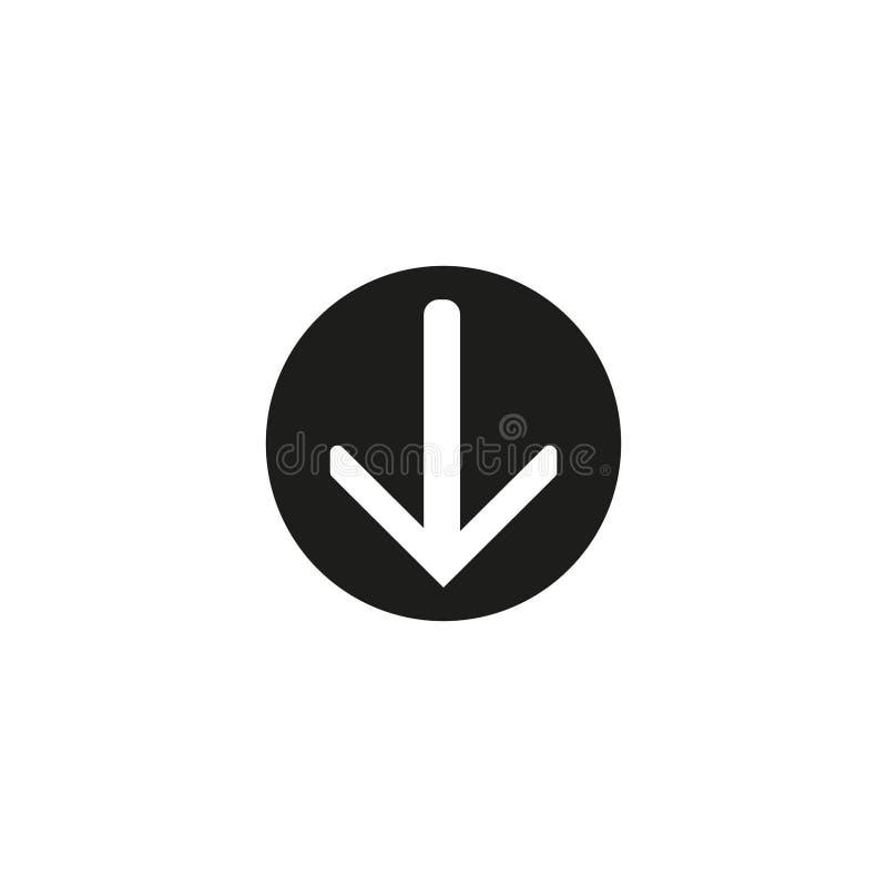Omcirkelt het download vectorpictogram, de vlakke knoop van ontwerpinternet, Web en mobiele toepassingillustratie royalty-vrije illustratie