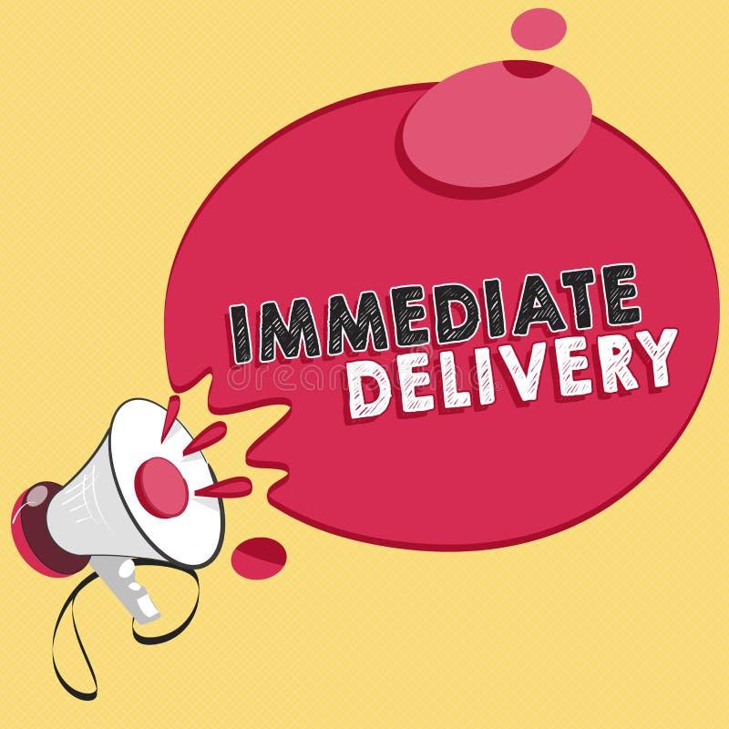 Omedelbar leverans för ordhandstiltext Affärsidé för Send det nu beställnings- tillvägagångssätt som ska kasseras prompt vektor illustrationer