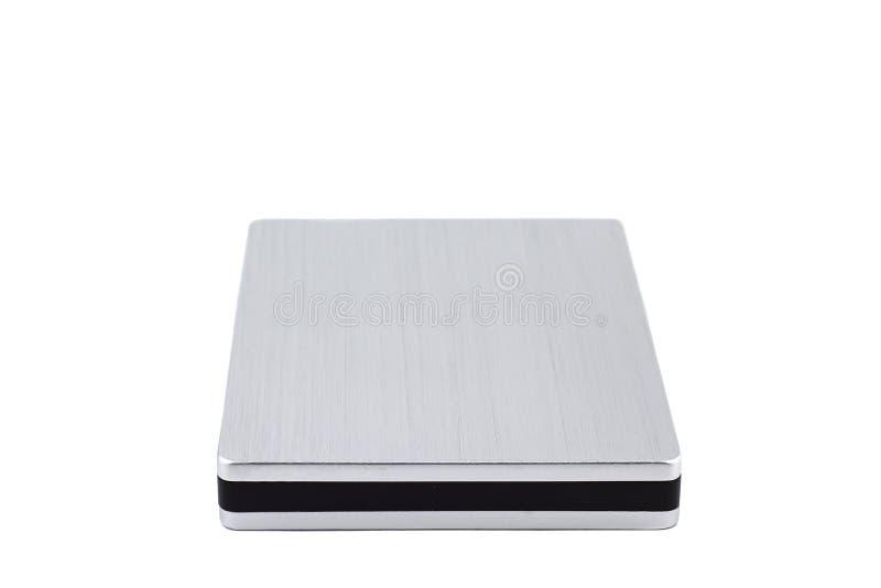 Εξωτερικός σκληρός δίσκος που απομονώνεται στο άσπρο υπόβαθρο στοκ φωτογραφία