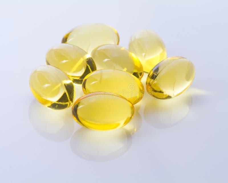 Omega-3 capsules royalty-vrije stock fotografie
