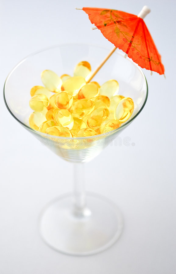 Omega-3 drink royalty free stock image