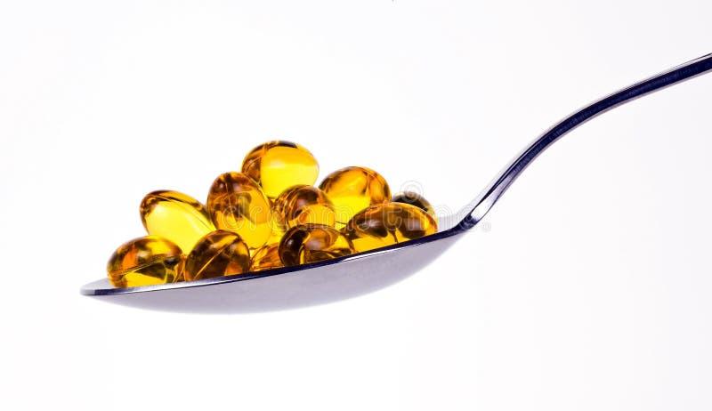 Omega 3 pillen royalty-vrije stock afbeeldingen