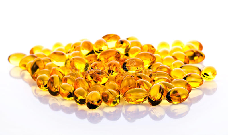Omega 3 pillules image stock