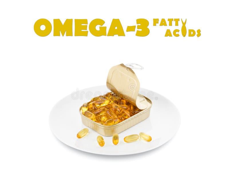 Omega 3 acidi grassi fotografie stock