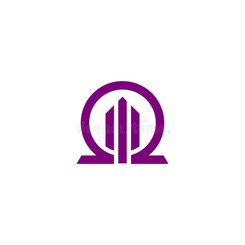Omega budynku logo royalty ilustracja