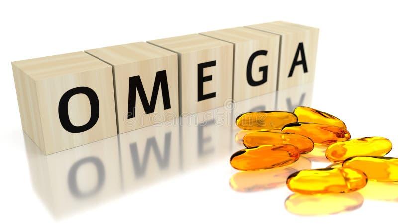 omega 3d geef terug royalty-vrije stock afbeeldingen
