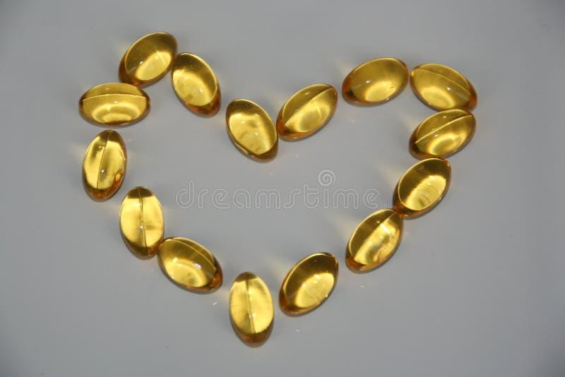 Omega-3 dobry dla serca zdjęcie stock