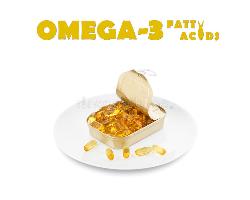 Omega 3 fatty acids. Dinner, on white with text stock photos