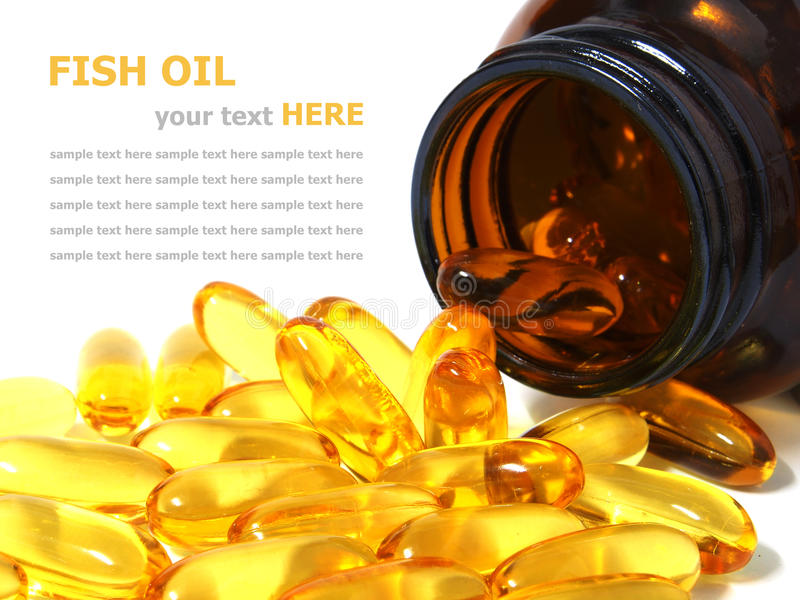 Download Omega 3 Fish Oil Capsules Spilling Out Of A Bottle Stock Photo - Image of dose, objects: 34067978