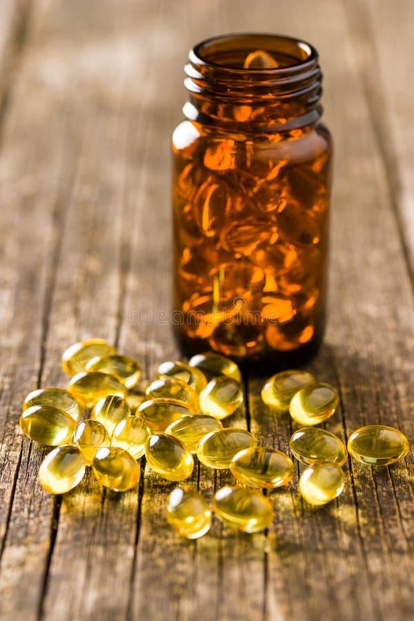 Omega 3 gel capsules. stock image