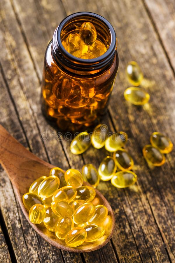 Omega 3 gel capsules. royalty free stock photography