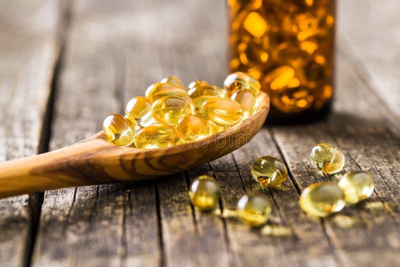 Omega 3 gel capsules. royalty free stock photos