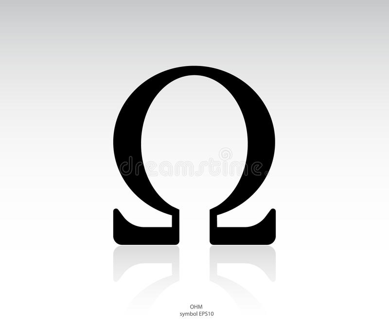 Omega icon. Ohm icon and symbol vector stock illustration