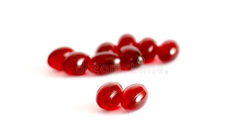 Omega 3 krilcapsules stock afbeelding