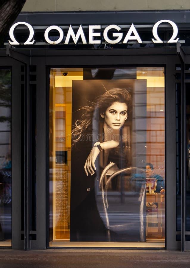 Omega sklep zdjęcie royalty free