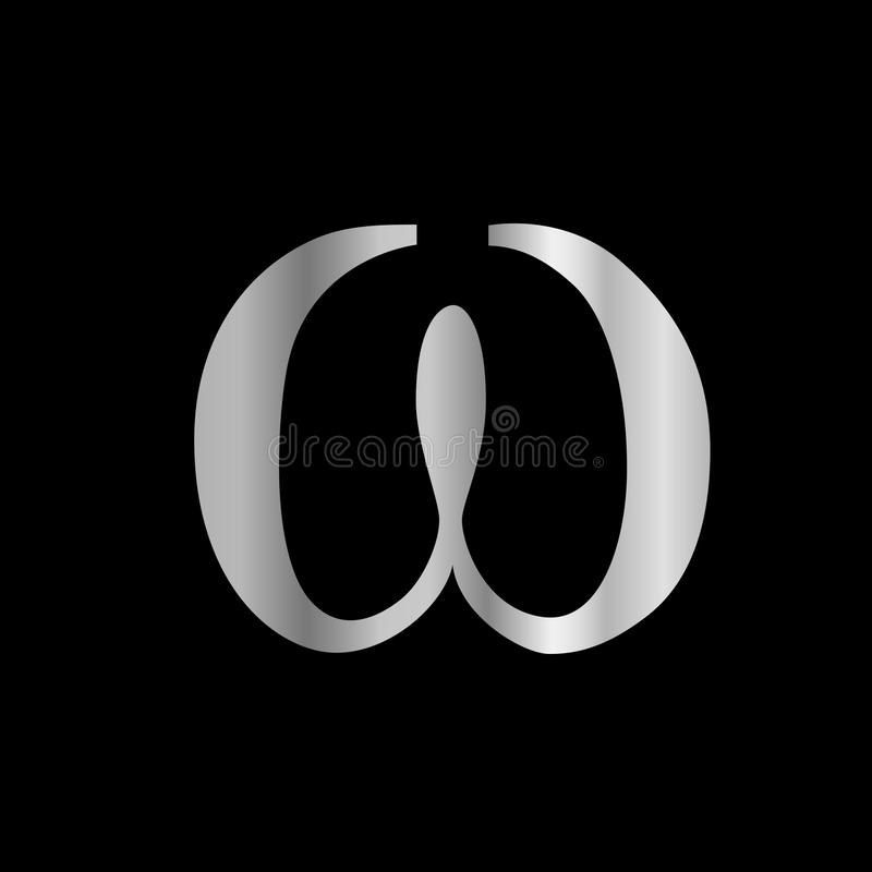 Omega Symbool Vector Illustratie Illustratie Bestaande Uit