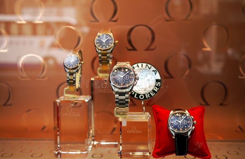 omega watches arkivbilder