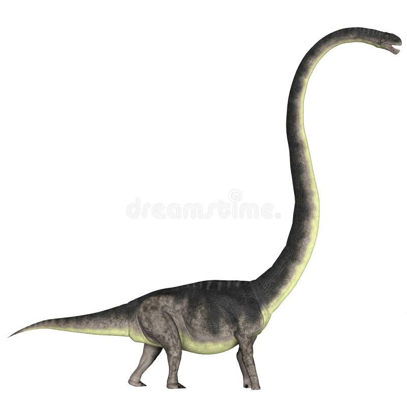 Omeisaurus nad bielem ilustracja wektor