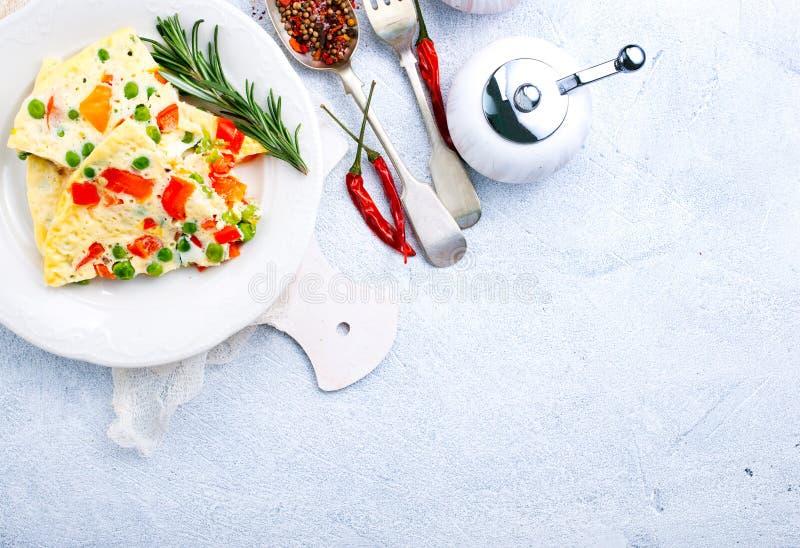 Omelet royalty-vrije stock afbeelding