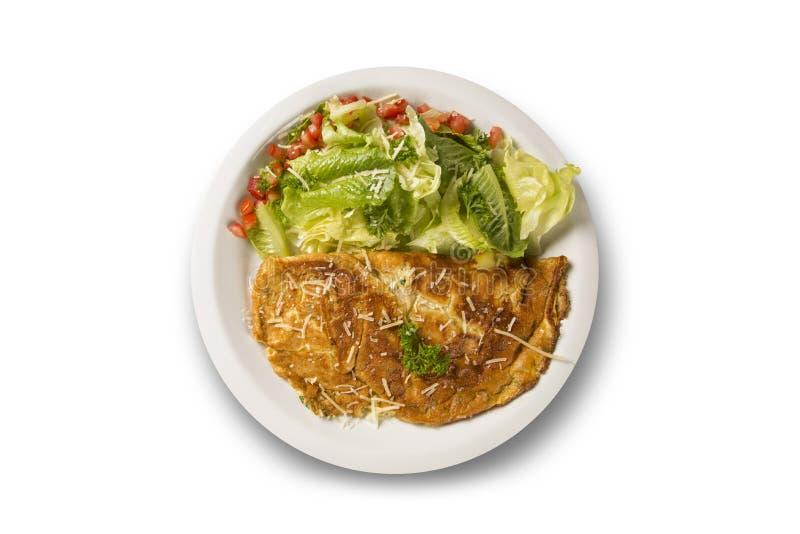Omelet en salade royalty-vrije stock fotografie