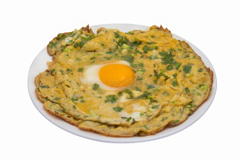 Omelet fried eggs isolated stock photography