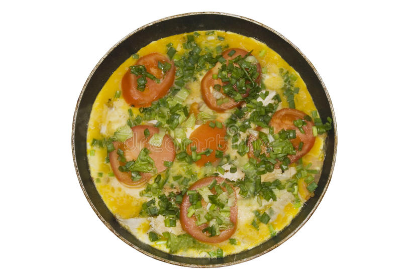 Download Omelet With Herbs And Tomatoes Stock Image - Image: 12019415