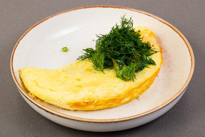 Omelet met dille royalty-vrije stock foto