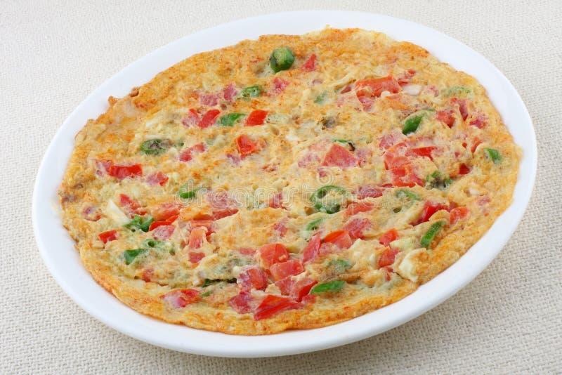 Omelet met groenten. royalty-vrije stock fotografie