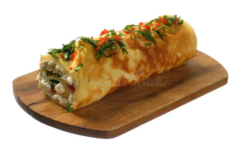 Omelet met groenten royalty-vrije stock foto