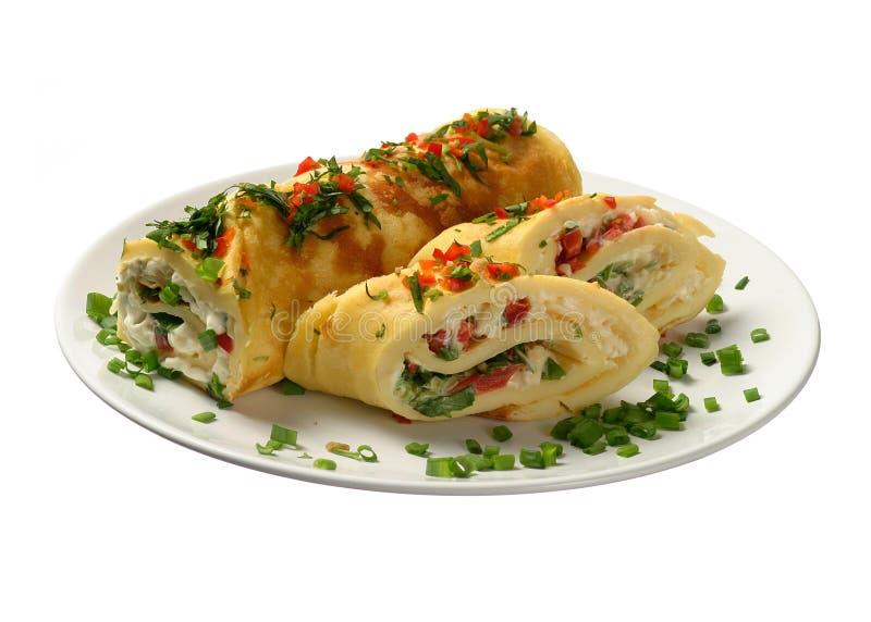 Omelet met groenten stock afbeelding