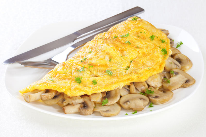 Omelet with Mushrooms stock image