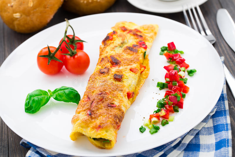 Download Omelet With Vegetables And Herbs Stock Photo - Image: 39879264
