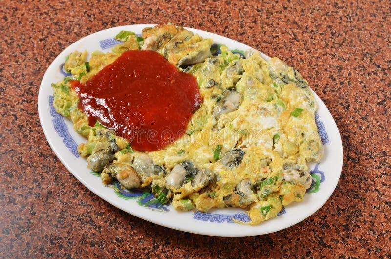 Omeleta da ostra fotografia de stock