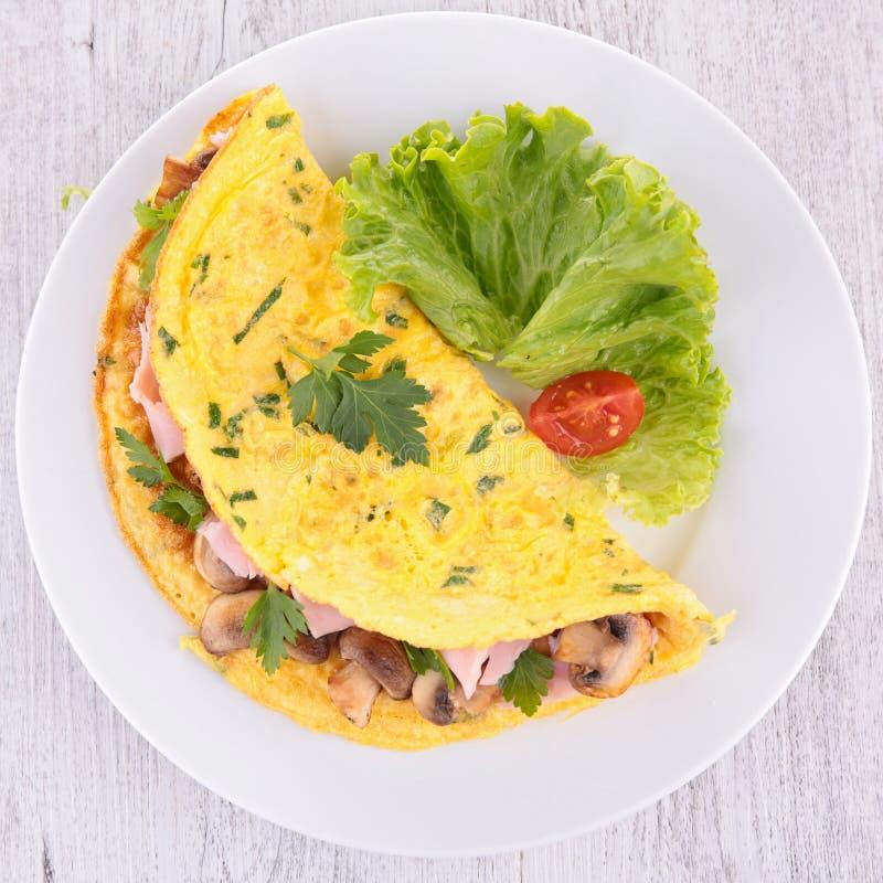 Omeleta do cogumelo fotografia de stock