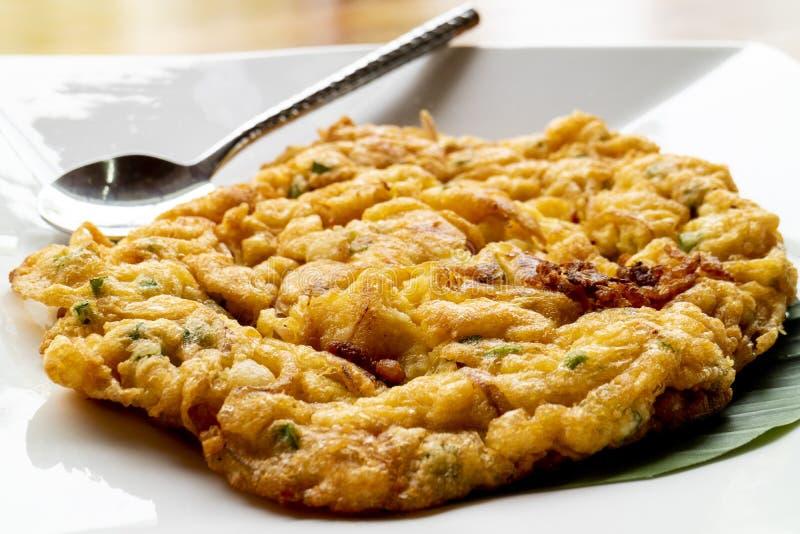 Omelete -泰国希拉勒食物 图库摄影