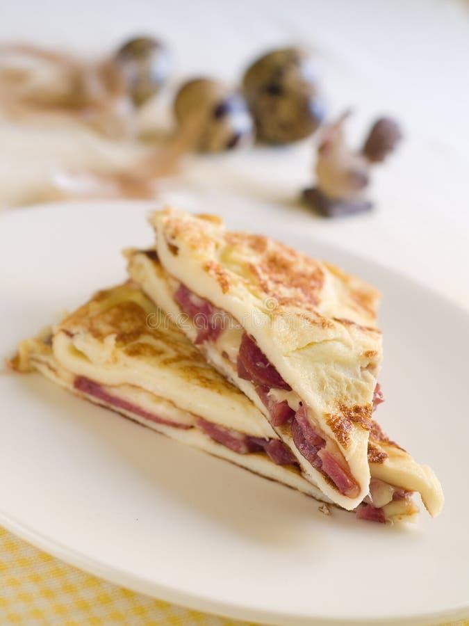 omelett arkivbild