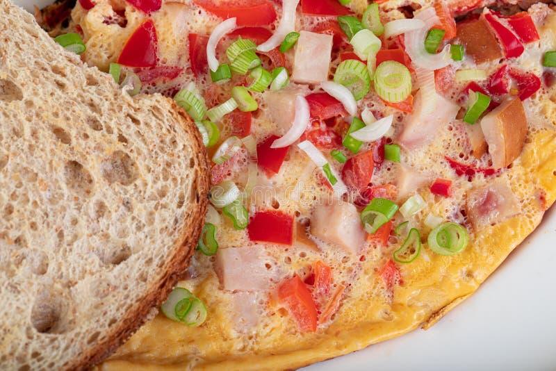 Omelett para el desayuno fotos de archivo libres de regalías