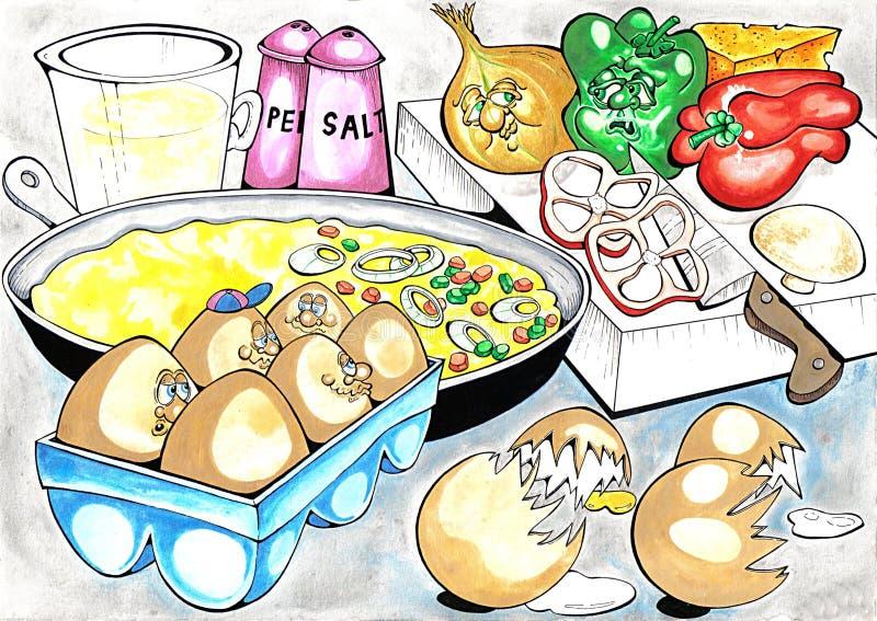 Omelette illustration stock