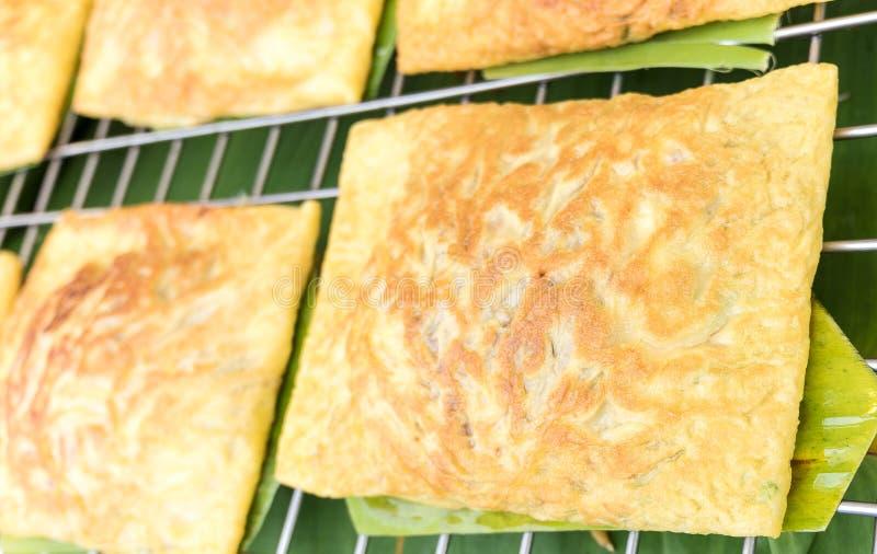 Omelette croccante farcita vietnamita immagini stock libere da diritti