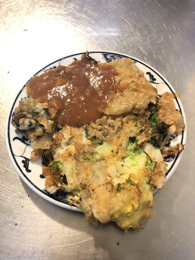 omelette d'huître de Devoir-essai image stock