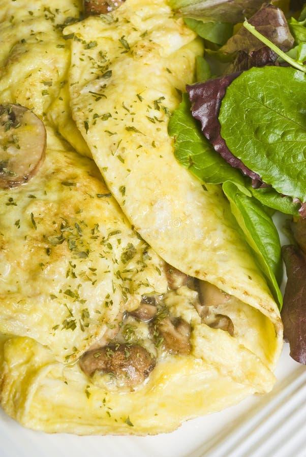 Download Omelette De Champignon De Couche Avec De La Salade Verte Image stock - Image du persil, champignon: 8655763