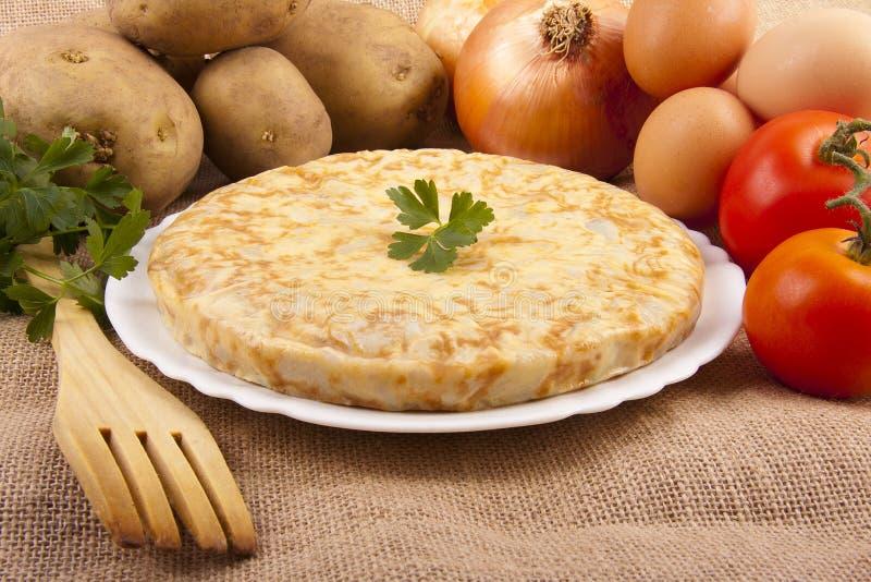 Omelette de pomme de terre photographie stock