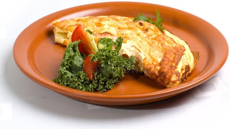 Omelette del formaggio & del prosciutto fotografia stock