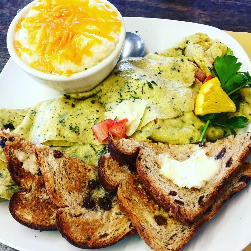 Omelette della prima colazione fotografie stock libere da diritti