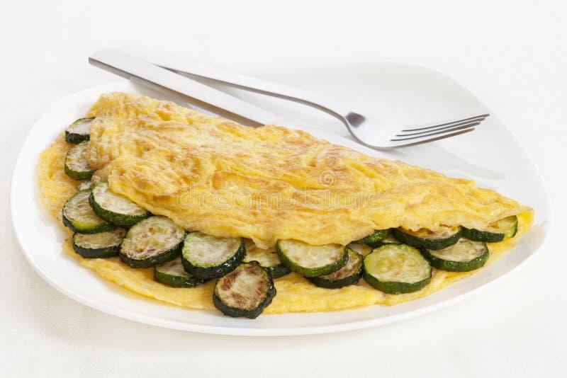 Omelette dello zucchini fotografia stock libera da diritti