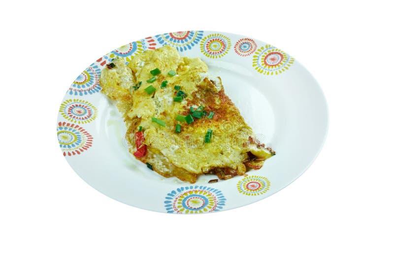 Omelette di Masala immagini stock libere da diritti