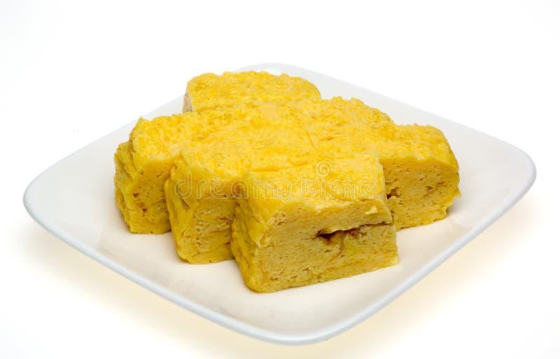 Omelette di stile giapponese immagine stock