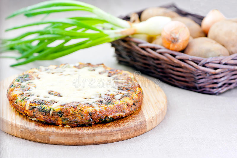 Omelette espagnole photo stock
