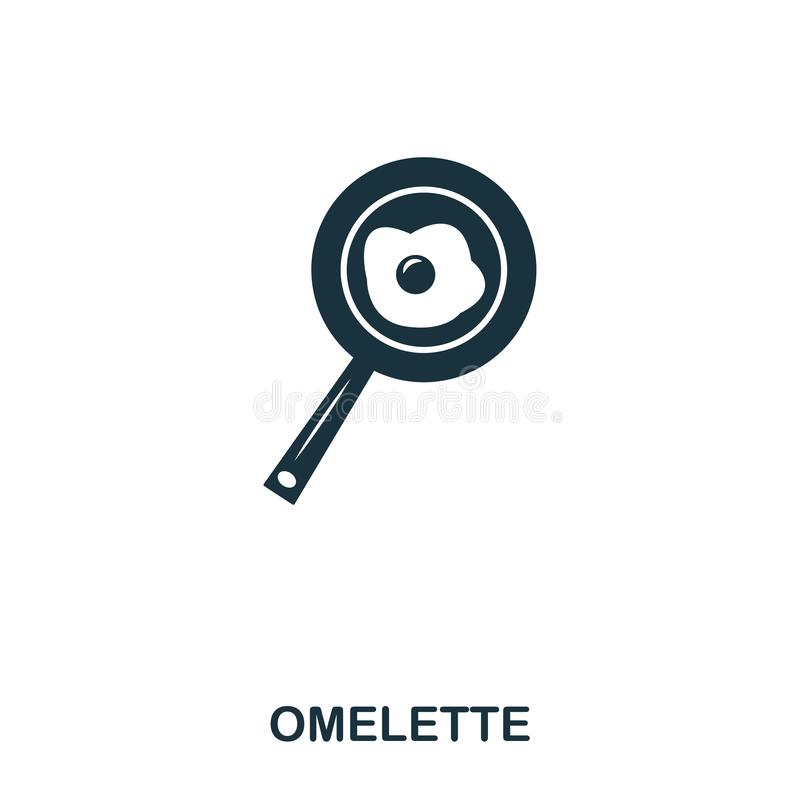 Omelette icon. Mobile apps, printing and more usage. Simple element sing. Monochrome Omelette icon illustration. Omelette icon. Mobile apps, printing and more vector illustration